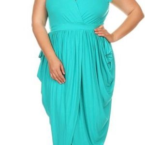 Wrapped Sleeveless Relaxed Maxi